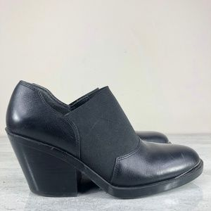 Naya Chucky Black Leather Booties